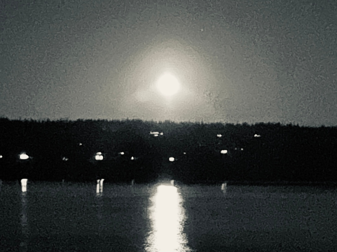 Langley at Night, Full Moon